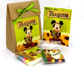 Kit Colorir e Modelar com Sacolinha - P - Mickey Safari