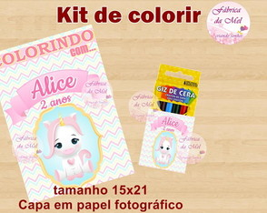Kit de colorir Unicórnio Baby