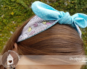 Tiara dupla face Hello Kitty azul