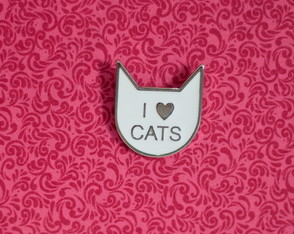 Broche Metálico - I Love Cats