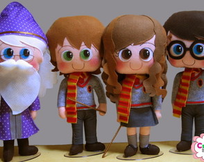 Kit Harry Potter - 40 cm PRONTA ENTREGA