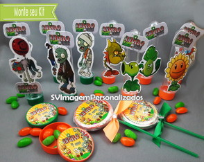 Monte Kit Festa Plants vs Zombies