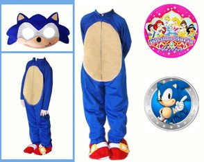 Fantasia do Sonic + Brinde Especial