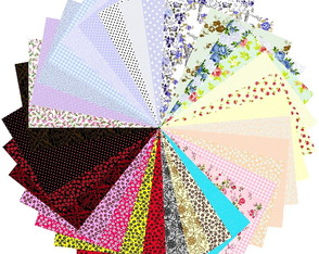 Kit Tecidos Patchwork Multicolorido Decoracao 25x35cm