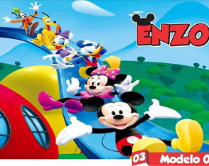 Painel Festas Lona Banner Turma Mickey Mouse