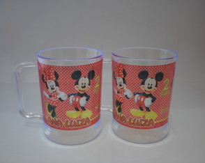 Caneca de 300ml Mickey e Minnie (nv. mod - 02)
