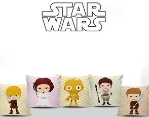 Almofadas Decorativas Star Wars Baby 5un