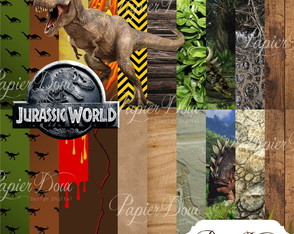 Kit Digital Jurrasic World - Dinossauros
