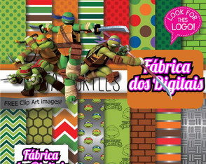 Kit Papel Digital - Tartarugas Ninja