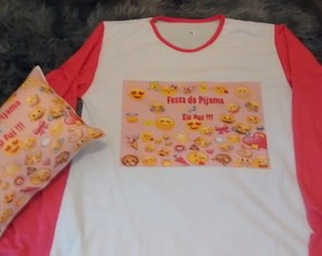 Kit Noite do pijama tema emojis