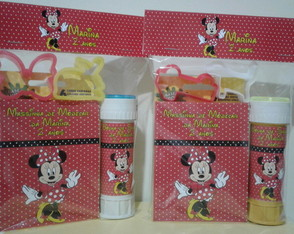 Massinha de Modelar +Bolha +Moldes Minnie
