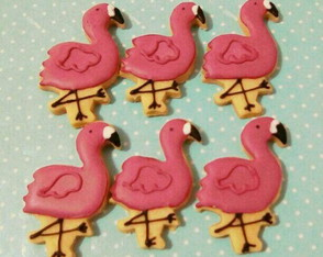 Flamingo biscoito decorado