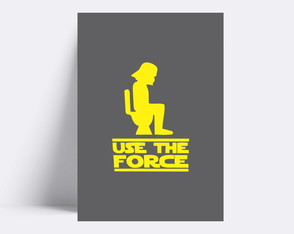 Placa decorativa/ USE THE FORCE10