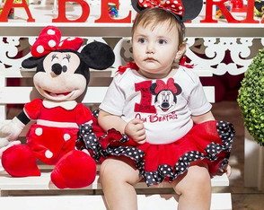 Body + Saia Tutu Tema Minnie