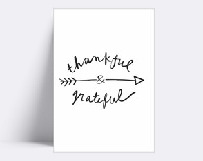 Placa decorativa/ THANKFUL 84