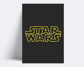 Placa decorativa / STAR WARS 180