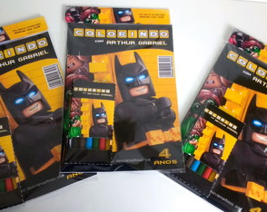 Revistinha de colorir Batman Lego