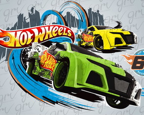 Painel Hot Wheels 1,00 x 0,70m