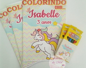 Kit de colorir Unicórnio