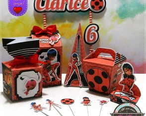 Kit Festa Miraculous Ladybug com Toppers