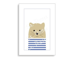 Poster Stripes Animal - Cat Color