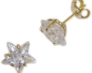 ca0e7f9fe06ef Par de Brincos ouro 18 k Pedras Sintéticas - Coleção de DSR Jóias ...