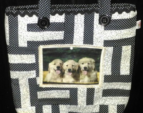 Bolsa Patchwork Golden Retriever