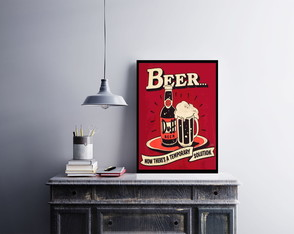 "Placa decorativa ""Beer Duff"""