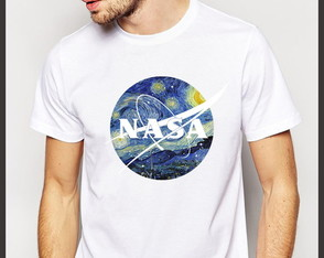 Camiseta Geek Nasa Van Gogh