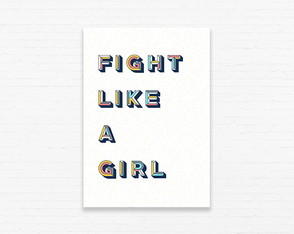 Quadrinho 19x27 Fight Like a Girl - Colorido