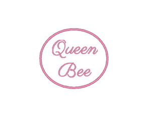 Patch Bordado Termocolante Queen Bee