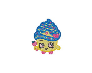 Patch Bordado Shopkins - Cupcake