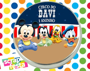 Latinhas Personalizadas do Mickey Circo