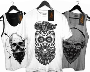 kit 4 Camiseta Masculina Caveira Skull Black Friday
