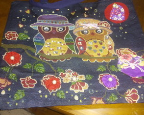 Bolsa colorida customizada