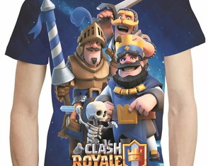 Camisa Clash Royale Camiseta Estampa Total Game