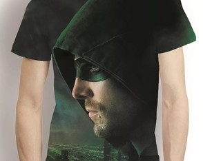 Camisa Serie Arrow Arqueiro Verde Camiseta Estampa Total