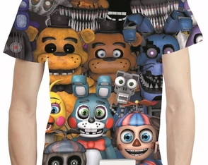 Camisa Five Night Camiseta Estampa Total At Freddys Mod 2