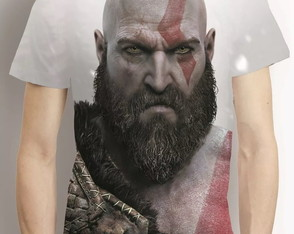 Camisa God Of War Kratos Camiseta Estampa Total Game