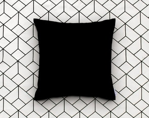 Almofada Decorativa Lisa Preto Black