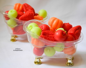 Kit lavabo mini frutas