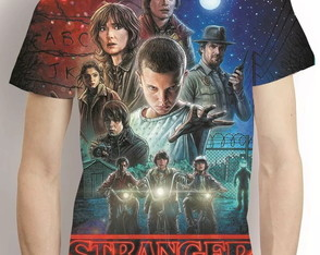 Camisa Stranger Things Camiseta Estampa Total Serie
