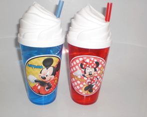 Copo Chantilly c/ Canudo 500ml Mickey e Minnie