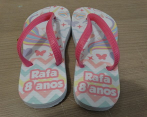 Kit Unicórnio Chinelo e Sacola