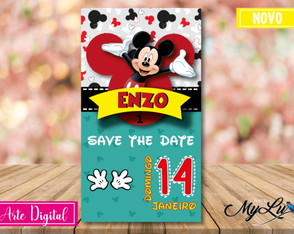Save the date digital - Mickey