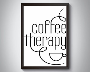 "Quadro ""Coffee Therapy"""