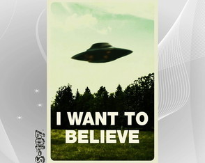 Poster Arquivo X Want to Believe 40x60cm Serie Filme Tv Sala