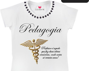 Baby look Customizada - Pedagogia