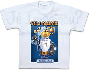 Camiseta Clash Royale Fantasma Real