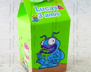 Caixa Milk Personalizada, Trash Pack